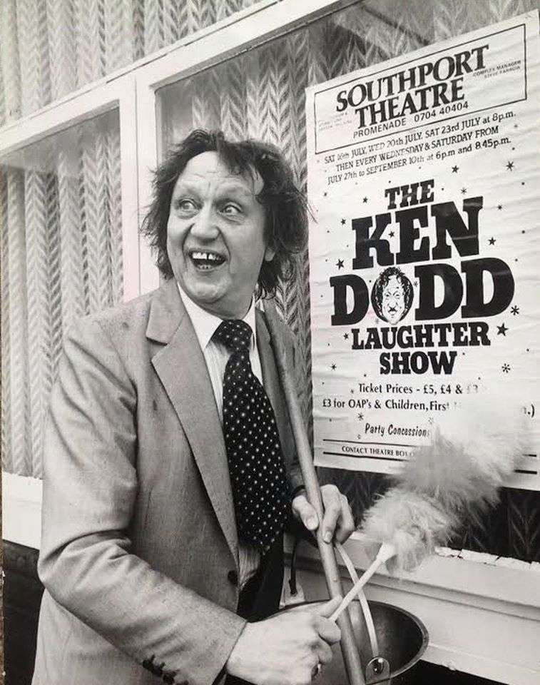 Ken Dodd was a popular star performer at Southport Theatre