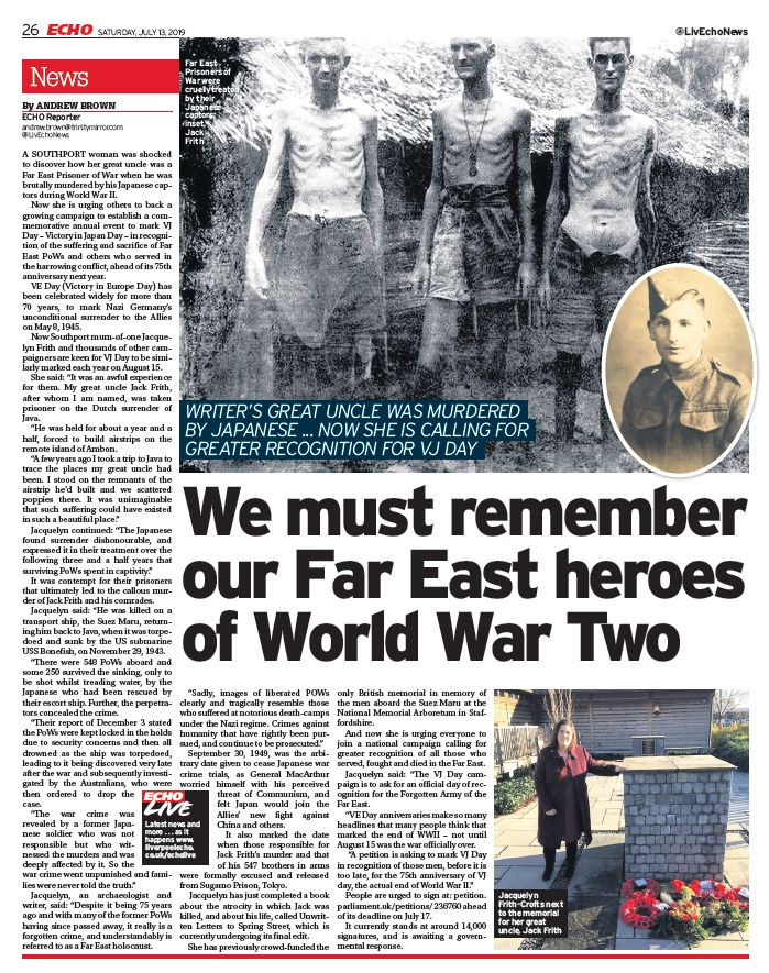 Far East heroes feature by Andrew Brown published in the Liverpool ECHO