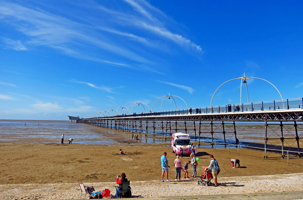 Southport Beach and Southport Pier