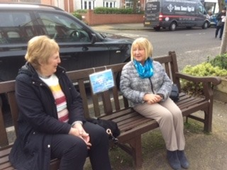 Chat Benches have been introduced in Ainsdale in a bid to encourage people to talk to each other more