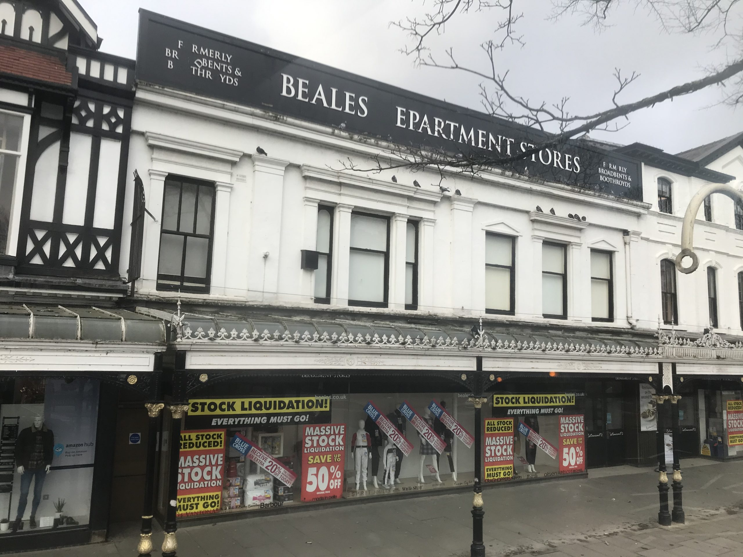Beales department store on Lord Street in Southport. Photo by Andrew Brown Media