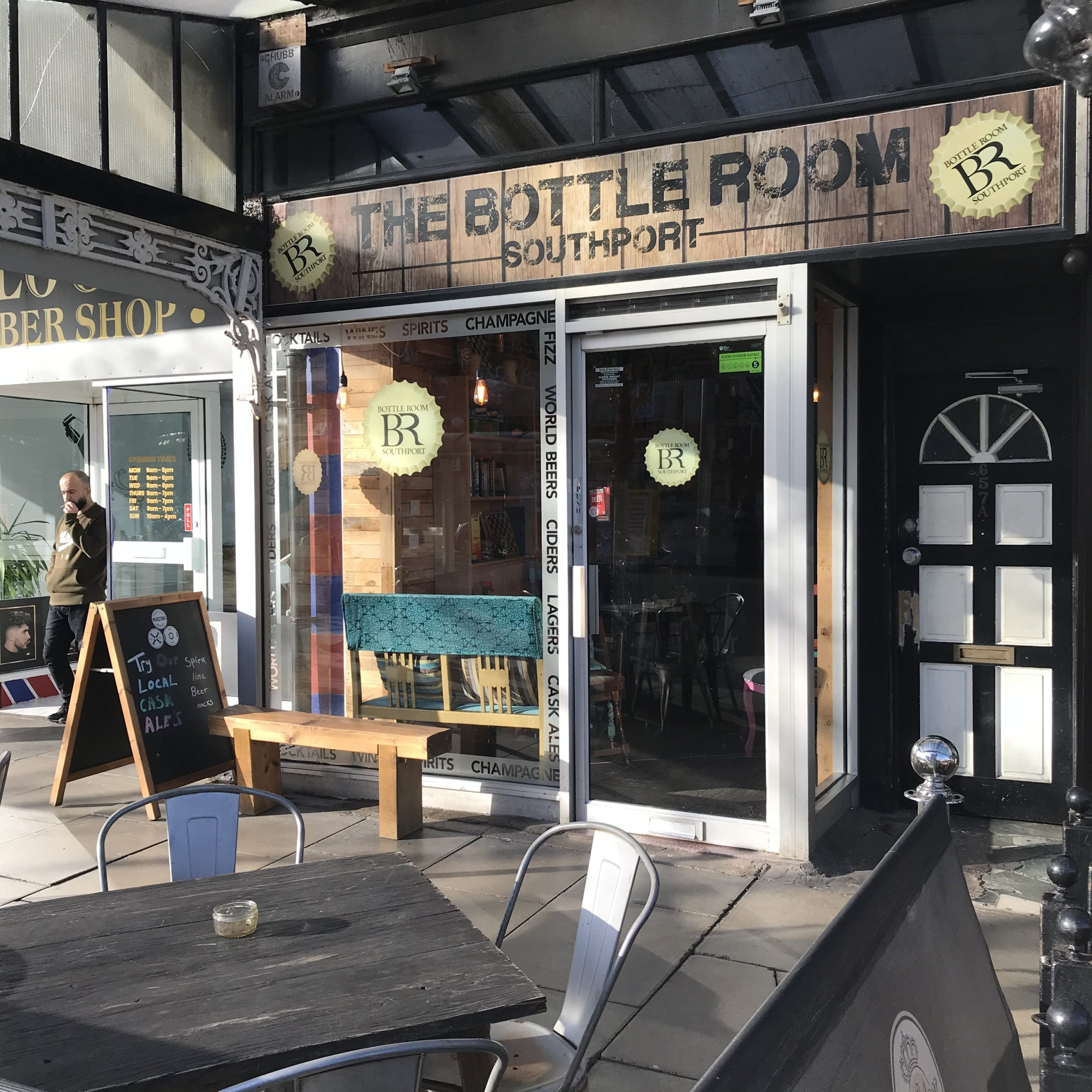 The Bottle Room on Lord Street in Southport, one of the businesses in the area's Northern Quarter. Photo by Andrew Brown Media