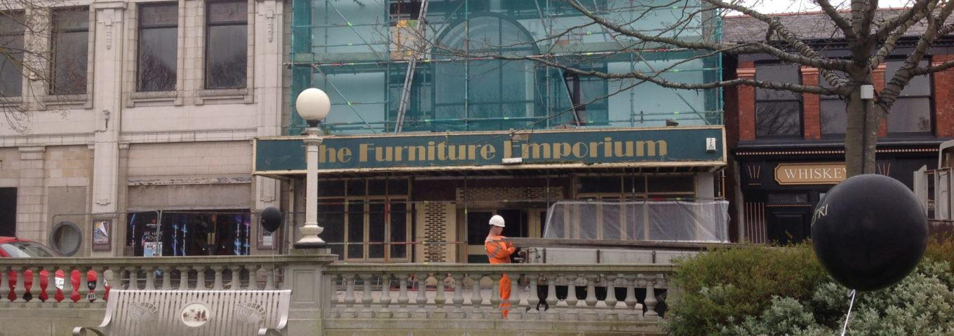 The former Furniture Emporium on Lord Street in Southport. Photo by Andrew Brown Media