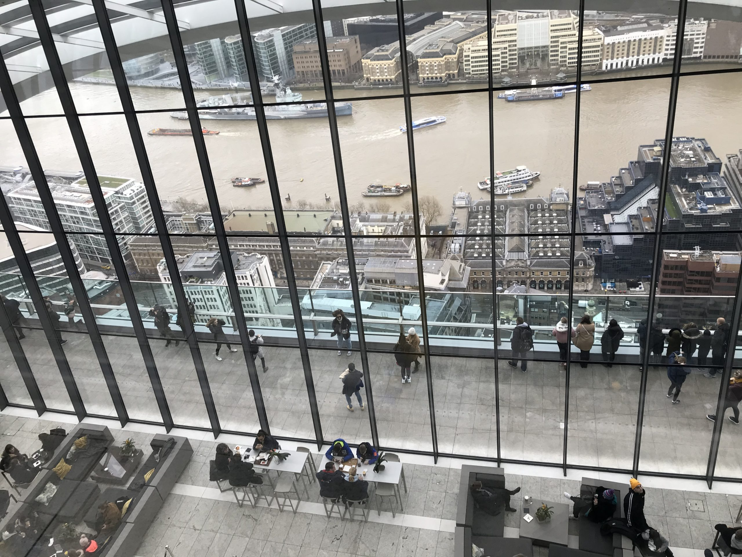 People can enjoy stunning views from 20 Fenchurch Street, otherwise known as the 'Walkie Talkie' skyscraper, in London.